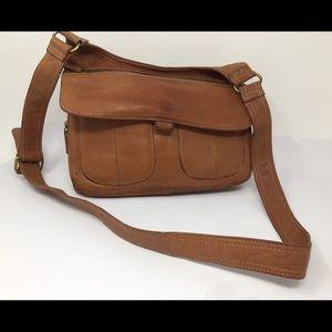 VTG Leather FOSSIL Crossbody Shoulder Handbag Bag